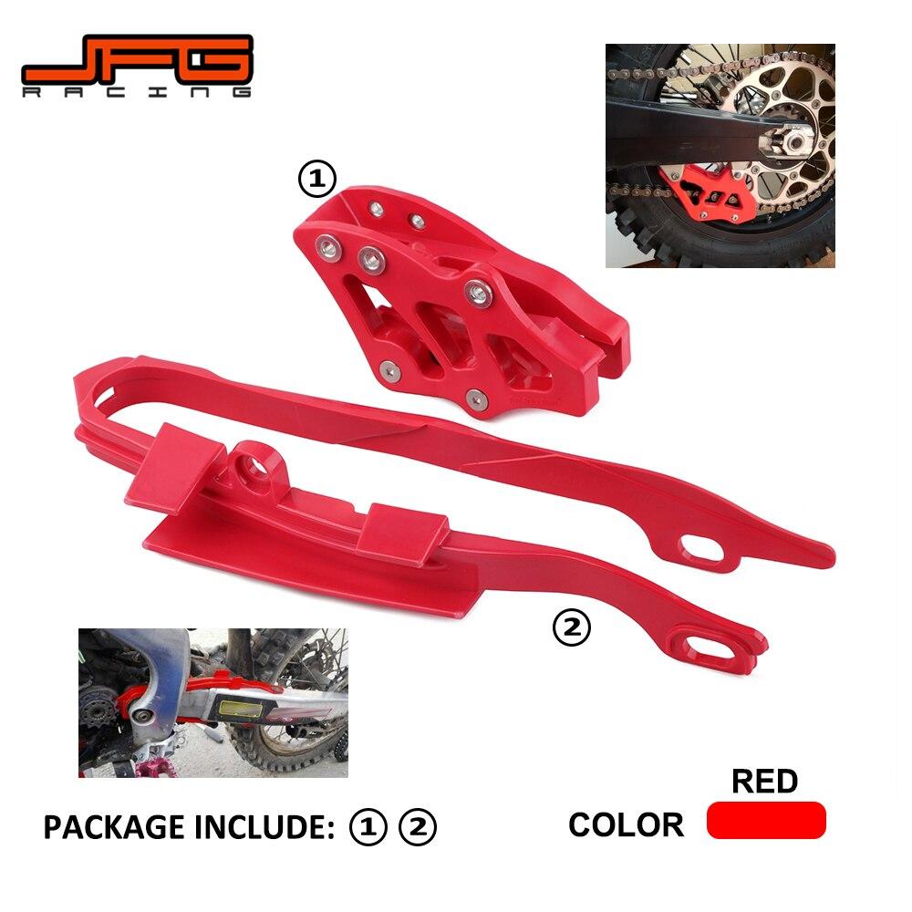 Moto Rouge Chaîne Curseur Guide Garde Bras Oscillant Curseur Protecteur Pour HONDA CR125R CR250R CRF250R CRF450R CRF250X CRF450X