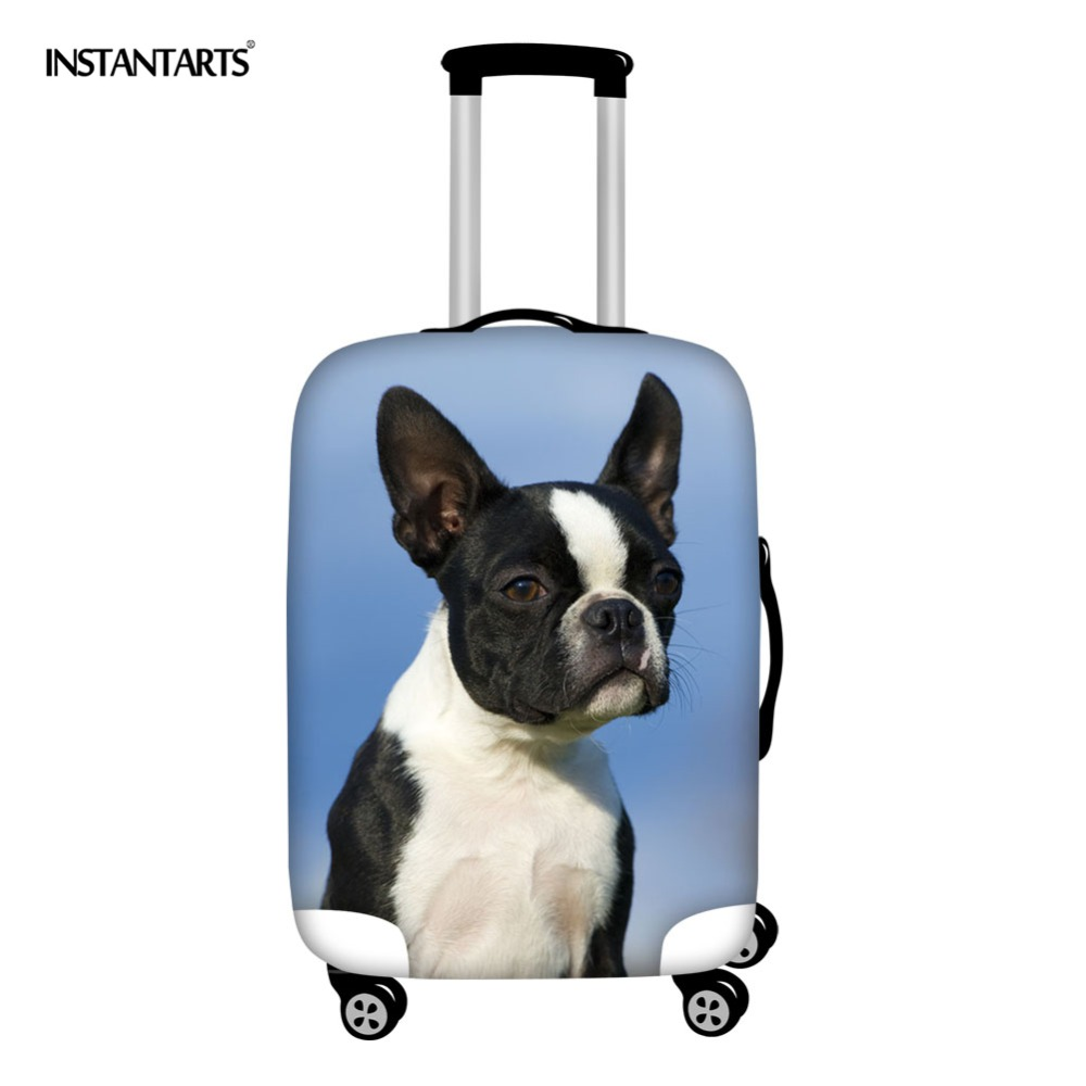 Instantarts Fashion French Bulldog 3d Prints Luggage Cover Apply To 18-30 Waterproof Thick Trolley Suitcase Protective Covers Luggage & Travel Bags