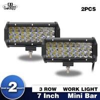 CO LIGHT Led Light Bar 72W 2Pcs Cree Chip Spot Flood Led Driving Light 7 Inch