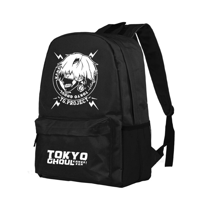 Tokyo ghoul Ken Kaneki Cospaly Backpack Anime Luminous Oxford School Bag Unisex 20 style anime tokyo ghoul kaneki ken laptop black backpack double shoulder school travel bag for teenagers or animation enthusiasts