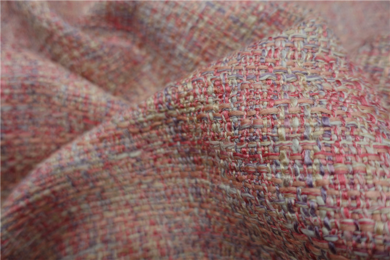 free ship tweed fabric rose and pink weaved pattern price for 1 yard 59