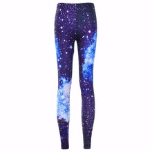 New Arrival 3130 Sexy Girl Galaxy Dark blue Black hole Star Printed Elastic Fitness Polyester Workout Women Leggings Pants