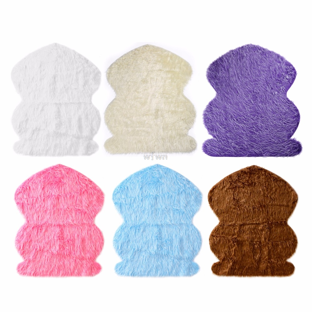 Newborn Photography Props Faux Fur Stuffe Background Baby Photo Soft Blanket MAY24 dropship