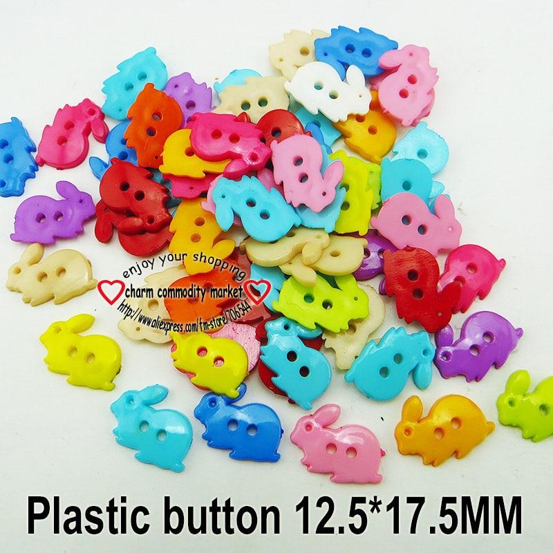 АКЦИЯ 100 шт смешанные формы много цветов Сделай Сам Скрапбукинг Мультяшные кнопки пластиковые кнопки детская одежда швейные принадлежности P-001 - Цвет: 4