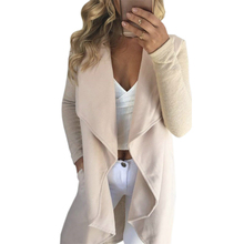 Women Autumn Cardican Jackets Open Stitch Long Sleeve Casual Coat Turn -Down Collar Office Jacket Pockets Plus Size Outfit