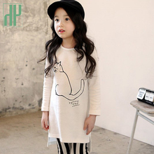 Toddler girl clothes set fall winter White Shirt Striped black long sleeve cat suit girls boutique outfits kids tracksuit