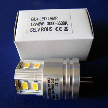 High quality 5630 12V 6W G4 led bulbs high power led bulb 24V G4 led lamps(free shipping 20pcs/lot)