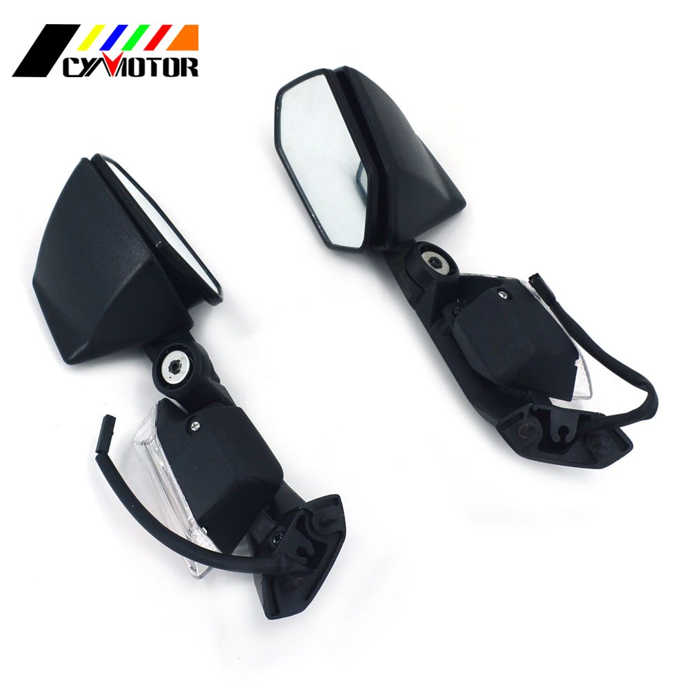 Motorcycle Left Right Side Rear Rearview Mirror For KAWASAKI ZX-10R ZX-6R ZX10R ZX6R 05 06 07 08 09 10 11 2005 2006 2007-2011 цена