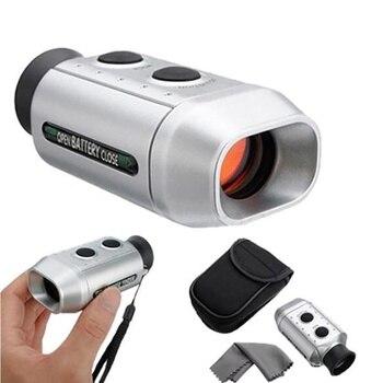 Portátil alcance Golf telémetro 7X Digital Golf Range buscador Golf caza ligero distancia Range Finder (utilizado durante el día)