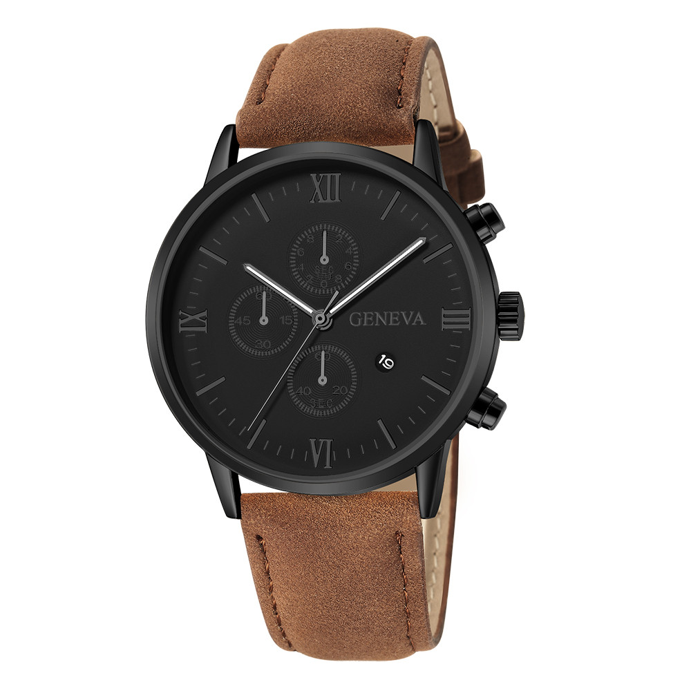 Quartz Watches Men's Watches Helpful Analog Leather Fashion Geneva Men Date Alloy Case Synthetic Leather Analog Quartz Sport Watch Women Clock Reloj Mujer