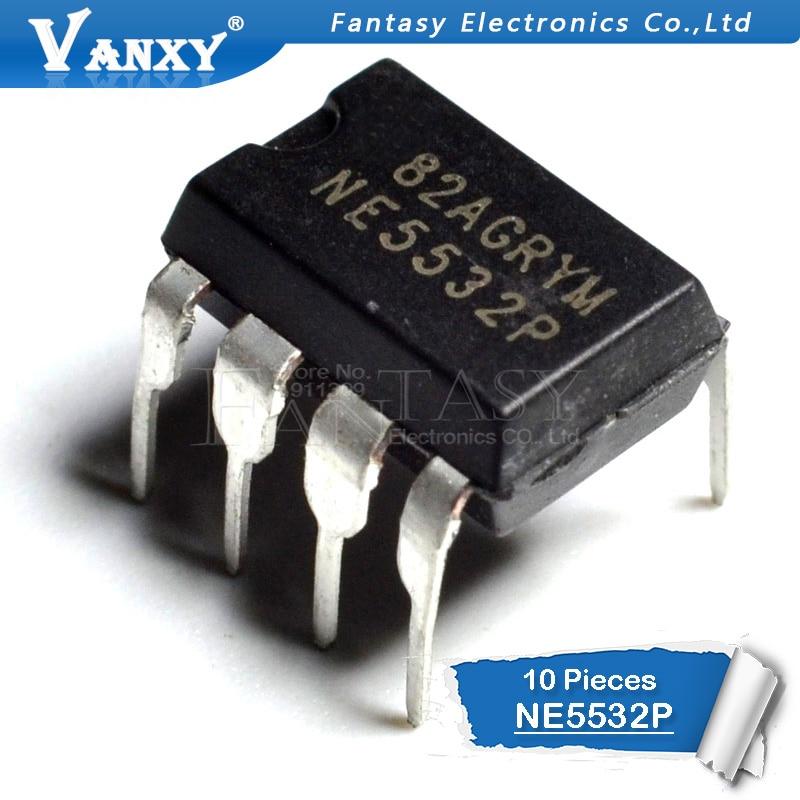 10PCS NE5532P DIP8 NE5532 DIP 5532P DIP-8 New And  Original IC