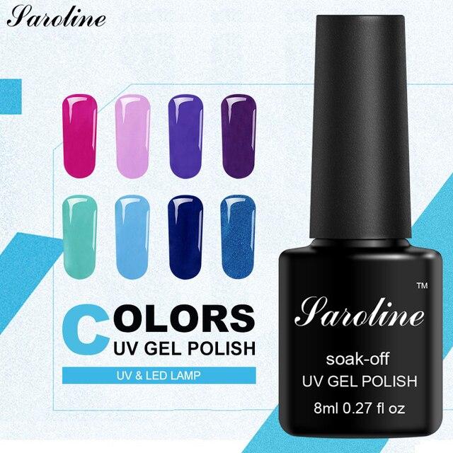 Saroline выдерживает-Цвет Акриловых Ногтей Long Lasting Nail гель полу постоянный 8 мл цвета гель лак Nail Art УФ-лампы лаков для ногтей