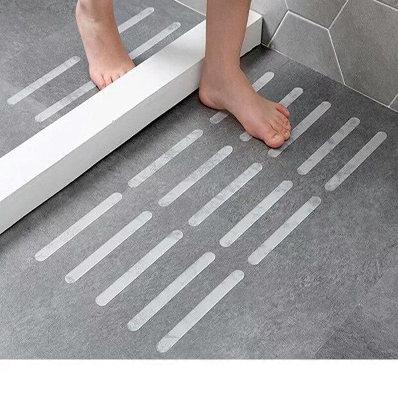 10/18 Pcs Anti-Slip Bath Grip Stickers Non-Slip Flooring Safety Bath Tub Shower Strips Tape Mat Applique Bathroom Accessories