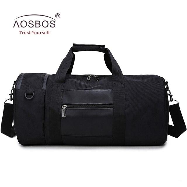 c14481ebb834a Aosbos Cilindro Gym Bag Hombres Gimnasio Bolsas para Formación Profesional  Bolsa de Deporte de Nylon Impermeable