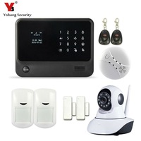 Touch Screen Android IOS APP Voice Prompt Wifi Gsm Gprs Home Security Alarm System With HD