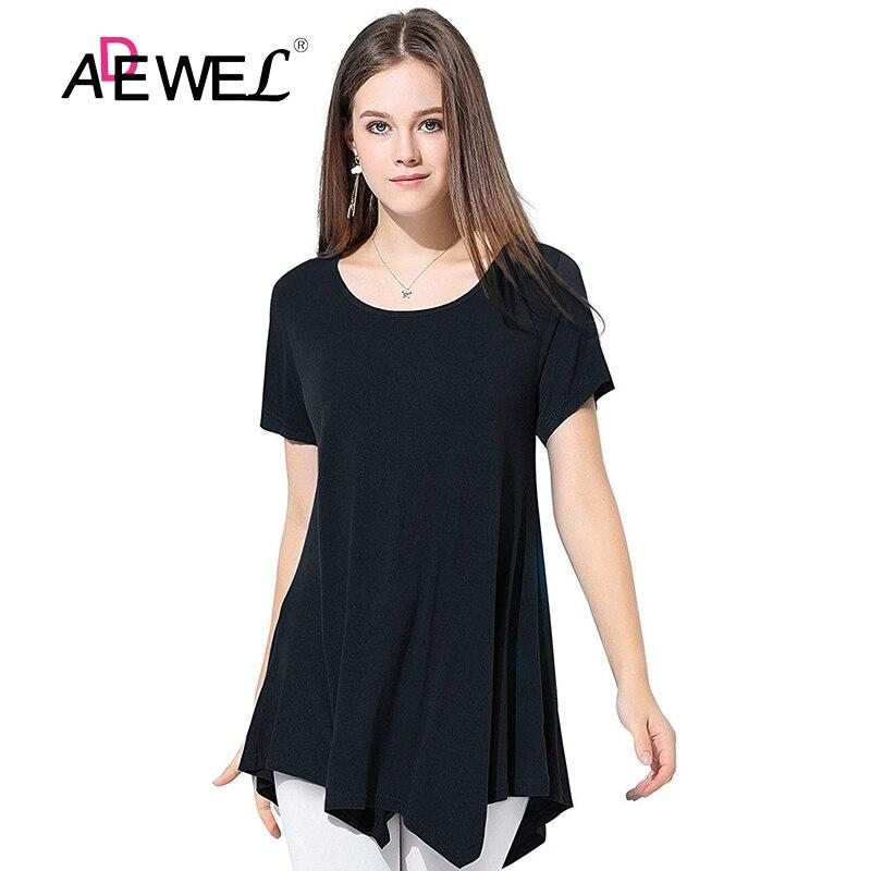 ADEWEL New Summer Top Plus Size Short Sleeves Women Tee Shirt Casual Mesh O Neck Womens Tops Tee shirts Vestido De Festa 2019