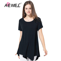ADEWEL New Summer Top Plus Size Short Sleeves Women Tee Shirt Casual Mesh O Neck Womens Tops Tee shirts Vestido De Festa 2019