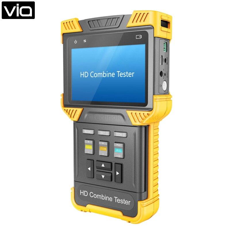 Dt-t62-cvi Direkt Fabrik Cctv Tester Ahd + Ipc + Tdr + Poe + Analog Kamera Tester 4,0-zoll Handheld Multi-funktion Sicherheit Geschickte Herstellung
