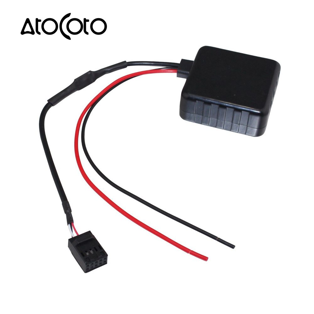 Car bluetooth module with filter for bmw e46 3 series radio stereo aux cable adapter wireless audio input