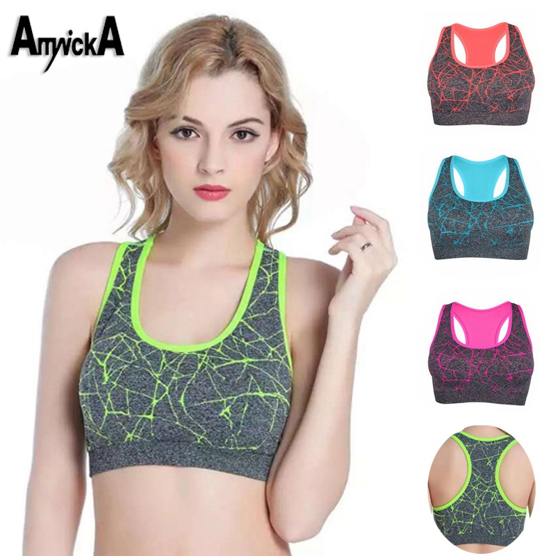 VEAMORS-New-Women-Shockproof-Sports-Bra-Stretch-Push-Up-Padded-Fitness-Vest-Breathable-Seamless-Underwear-Yoga