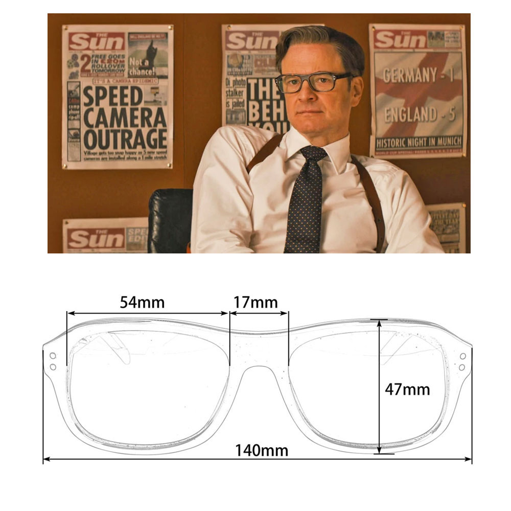 Image 5 - Kingsman The Golden Circle Eyeglasses Frames with Anti reflective lens computer glasses-in Men's Eyewear Frames from Apparel Accessories