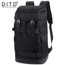 цены DITD Men Backpack Travel Bag Large Capacity Versatile Utility Mountaineering Multifunctional Waterproof Backpack Luggage Bag