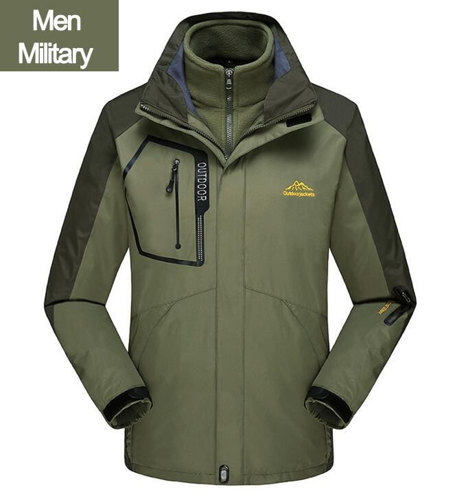 ef812d93211 Dropwow PEILOW Winter Jacket Men women Thick 2 in 1 Coat Thermal ...