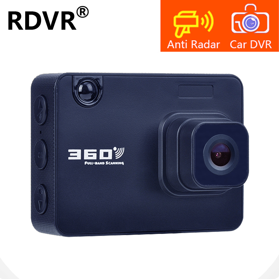 RDVR 2019 Smart Radar Detectors HD Car DVR Dash Cam 2 In 1 Video Recorder Dashcam AntiRadar video registar Russian and English gadget