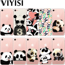 Cute  For Apple IPhone 7 8 X 6 6S Plus case 5 5S SE Phone Case Panda Animals Cover Soft TPU Silicone Back Coque Shell стоимость