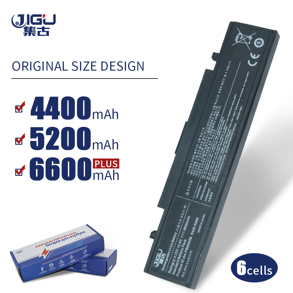 JIGU Laptop batarya Samsung AA-PB9NS6B PB9NC6B R580 R540 R519 R525 R430 R530 RV511 RV411 RV508 R528 Aa Pb9ns6b 6 hücreleri