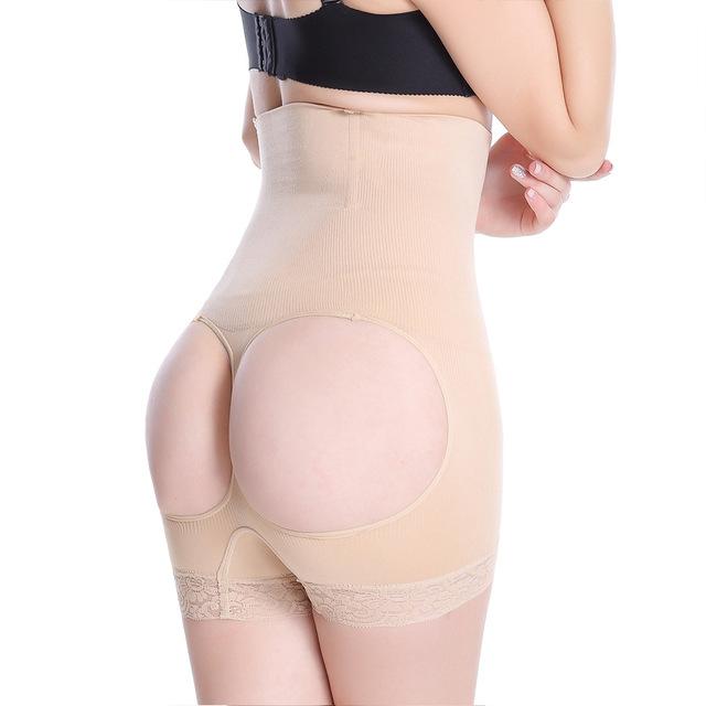 O envio gratuito de mulheres cintura alta Butt levantador guarnição do laço corpo Shaper saque calças cuecas controle barriga
