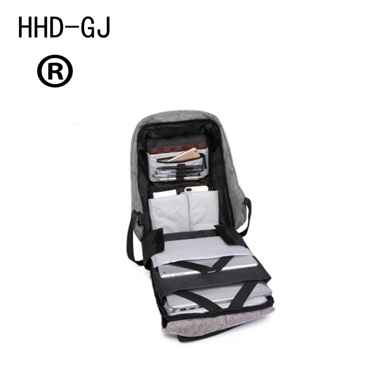 Купить с кэшбэком HHD-DJ Anti Theft Multifunctional Backpack Fashion USB-charging 15inch Laptop Backpacks Male Teenager Travel Bag Waterproof