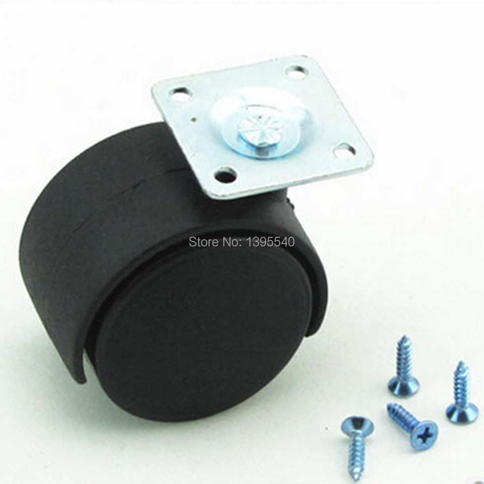 New 2'' Durable Nylon Rubber Swivel Castor Universal Wheels Plate Rolling Caster Home Office Computer Chair Castor Chair Wheels new 2 double bearing furniture universal caster durable pu rolling swivel castors tablet type chair fast pulley