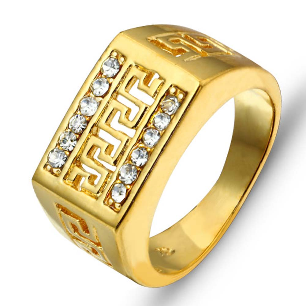 Mens rings 2016 best gift gold color men jewelry rings for Best mens jewelry sites