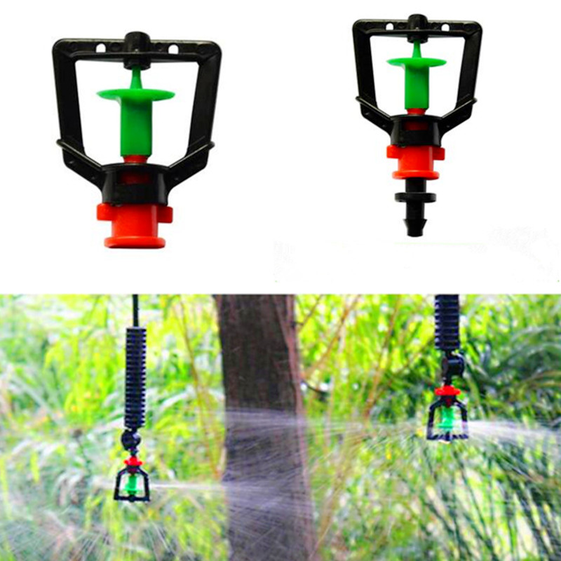 50pcs pack Rotary Sprinkler Water Saving Garden Flower Watering Hanging Misting Nozzle Micro Irrigation Fitting M112
