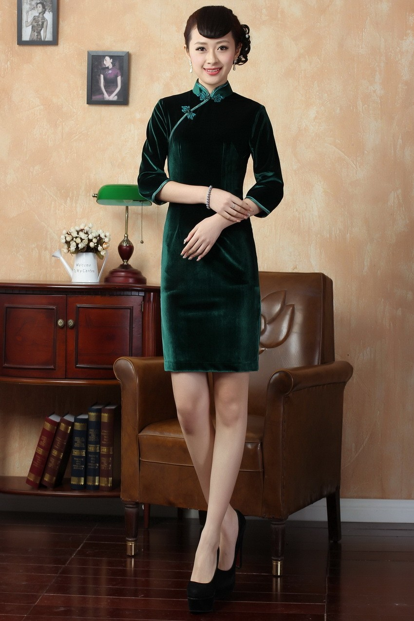 Hot Selling Traditional Chinese Classic Style Women s Mini Cheongsam ... b7b92d63270d