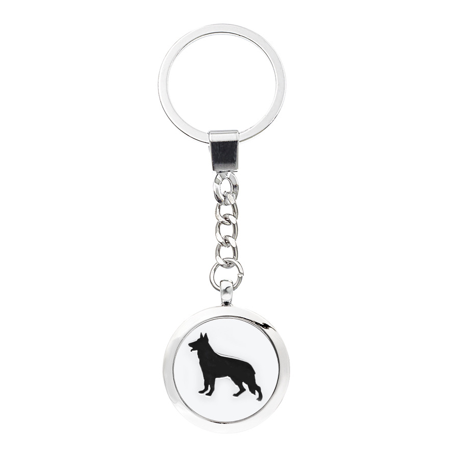 Wolf Pattern Design Key Chain Essential Oil Aromatherapy