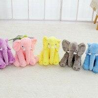 40 cm sveglio della peluche piccolo elefante elefante giocattolo cuscino di sonno del bambino cuscino rosa grigio blu rosa lungo naso elefante di peluche per bambini giocattolo