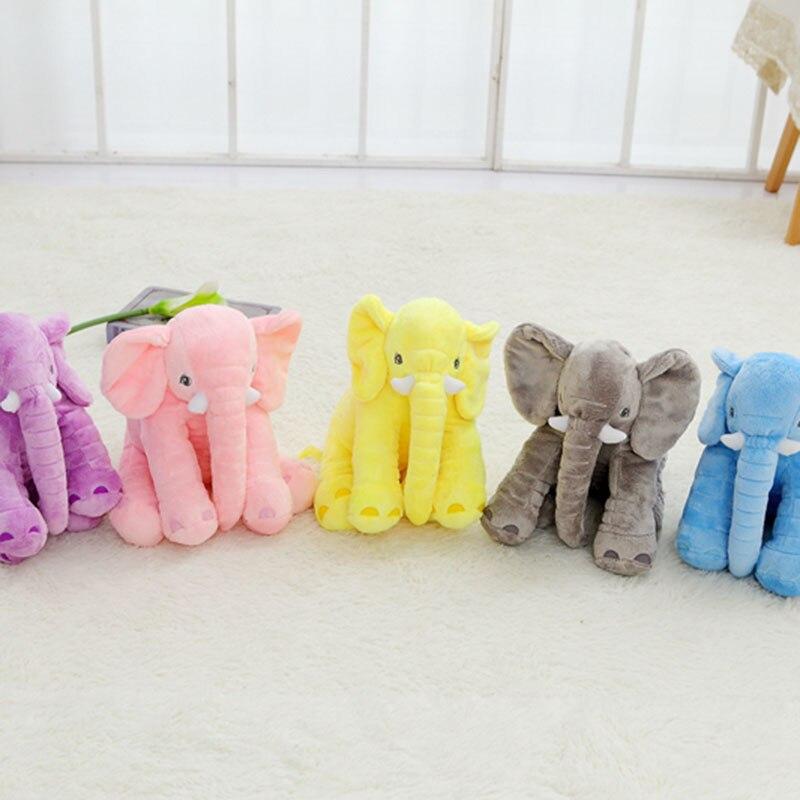 40cm cute plush little elephant toy elephant pillow baby's sleep pillow pink grey blue pink long nose elephant plush kids toy cute elephant style baby polyester music box doll blue orange pink