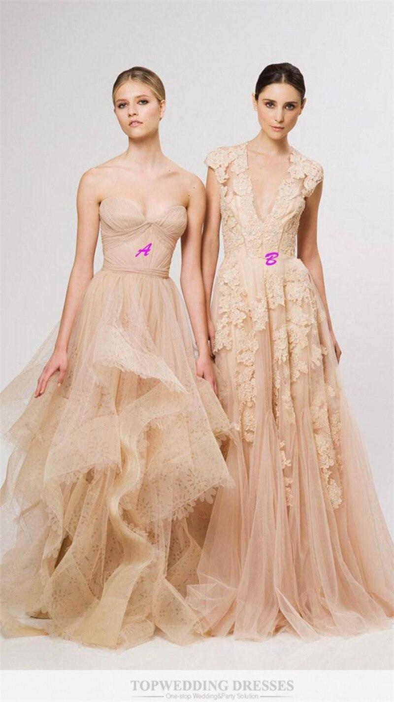 Online Shop Vintage 2017 Lace Pink Wedding Dresses Champagne ...