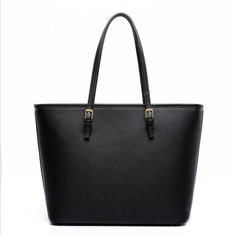 Big Bag 2019 Fashion Women Pu Leather Handbag Brief Shoulder Bag Black White Large Capacity Luxury Tote Shopper Bag Designer