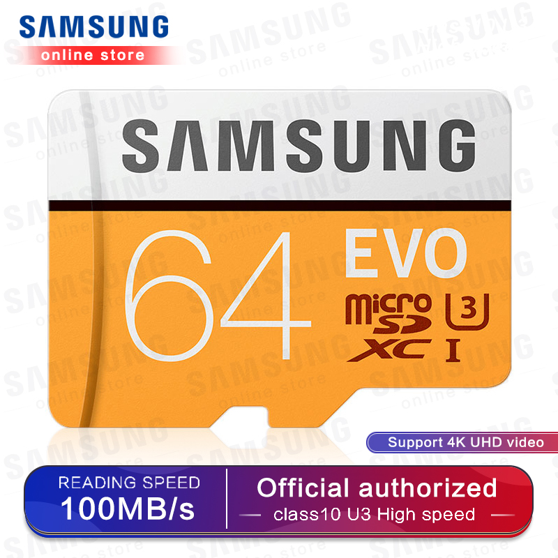 SAMSUNG Micro SD Memory Card 32G 64G 128G 256 MicroSD Cards SDHC SDXC Max 95Ms EVO 32GB 64GB C10 TF Trans Flash Micro Card