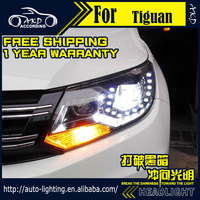AKD Car Styling Headlight Assembly For VW Tiguan Headlights 2011up Tiguan Bi Xenon Headlight LED DRL