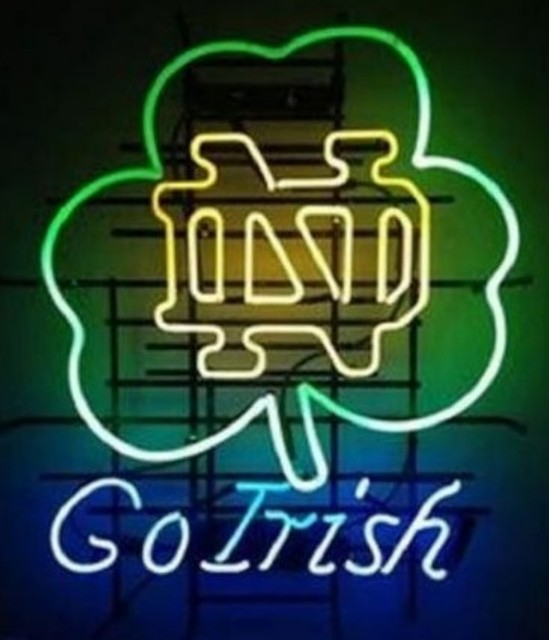 Custom Go Irish Glass Neon Light Sign Beer Bar