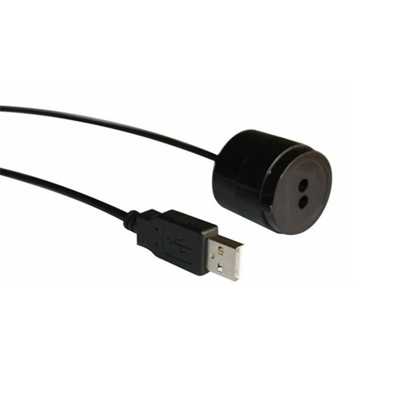 IEC1107 Standard Black Color 2 Meters Straight Line Usb Connector IR Optical Probes For Meter Communication