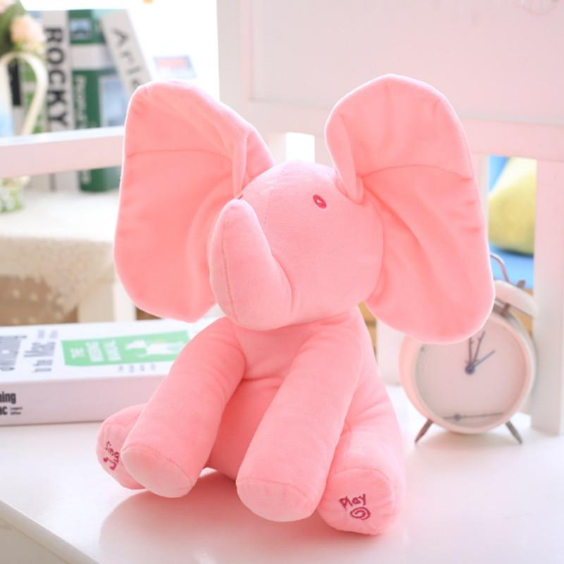 30cm-Play-Music-Elephant-2017-Electric-Elephant-Peek-a-boo-Plush-Soft-Toy-Animal-Stuffed-Doll-Play-Hide-Seek-CuteEducational-Toy-5