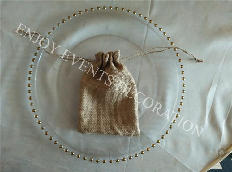 200pcs YHA#104 elegent burlap favourite bag 13cm*18cm with lace decor for any events