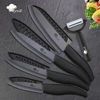 Керамический нож 3 4 5 6 дюймов очистка нарезка шеф-повар мясо кухонные ножи черный Цирконий лезвие цвет анти-скольжения Ручка резак