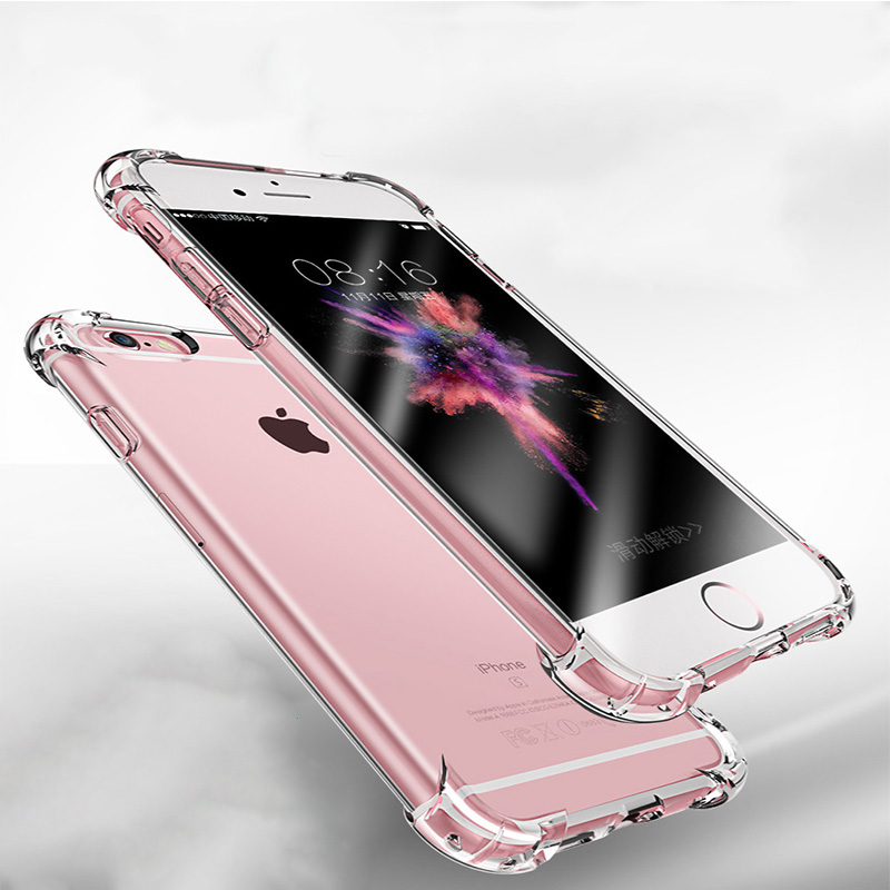 Luxury Anti-knock Silicone Case For iphone 6 7 8 Plus X Slim Transparent Soft TPU Phone Cover For iphone 5 5s 6 6s 7 8 10 X case