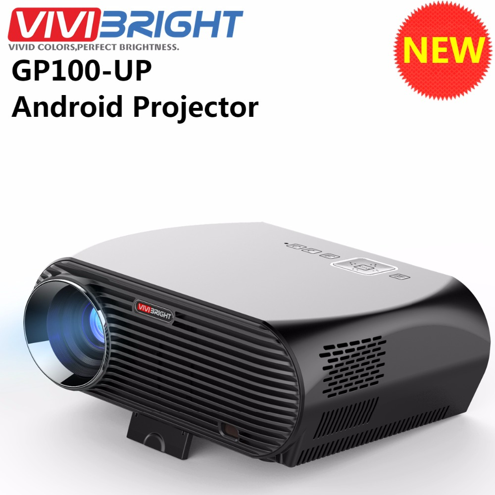 Led Projector 3500 Lumens Beamer 1280 800 Lcd Projector Tv: Newest ViviBright GP100UP Smart Home Theater Projector